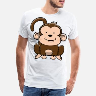 Boy Monkey Monkey Chimpanzee Sweet Funny Gift - Men's Premium T-Shirt