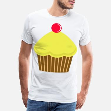 Man Cupcake cherry kitchen cooking cook baking food - Men's Premium T-Shirt