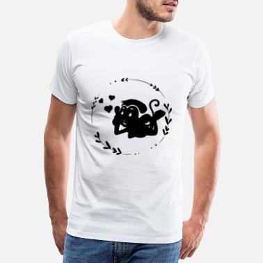 Playful playful ape / monkey / zoo lover - Men's Premium T-Shirt