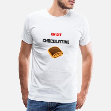 Transparent Chocolatine - Premium-T-shirt herr