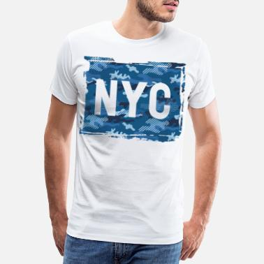 Brooklyn Bridge NYC camouflage - Men's Premium T-Shirt