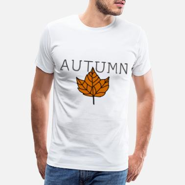 Gioielli Autumn leaves thanksgiving fruits idea regalo - Maglietta premium uomo
