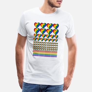 Lgbt Flag LGBT flag with hearts - Men's Premium T-Shirt