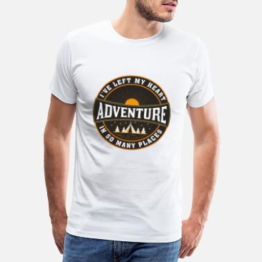 Solo Adventure, Travel Quote, Best Gift For Backpackers - Men's Premium T-Shirt