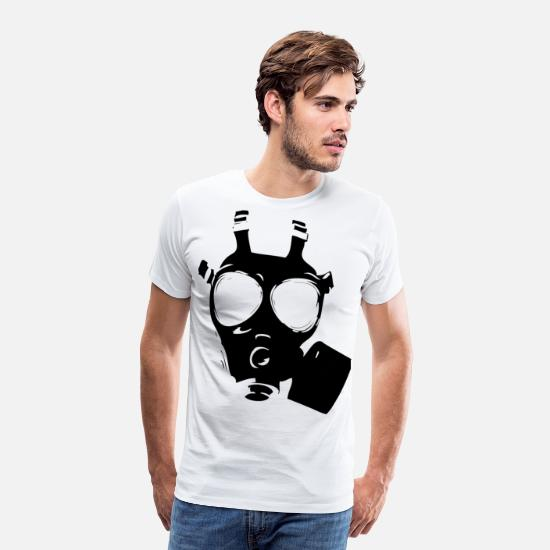 Birthday T-Shirts - The gas mask is the best of all masks. Techno - Men's Premium T-Shirt white