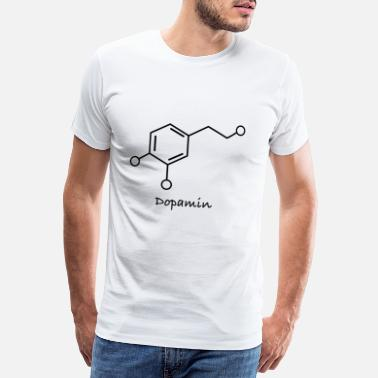 Bliss Dopamine molecule structure happiness happiness - Men's Premium T-Shirt