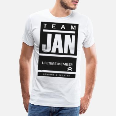 Jan Team Jan Lifetime-lid - Mannen premium T-shirt