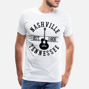 Countrymusic Nashville Country Music USA Tennessee Souvenir - Men's Premium T-Shirt