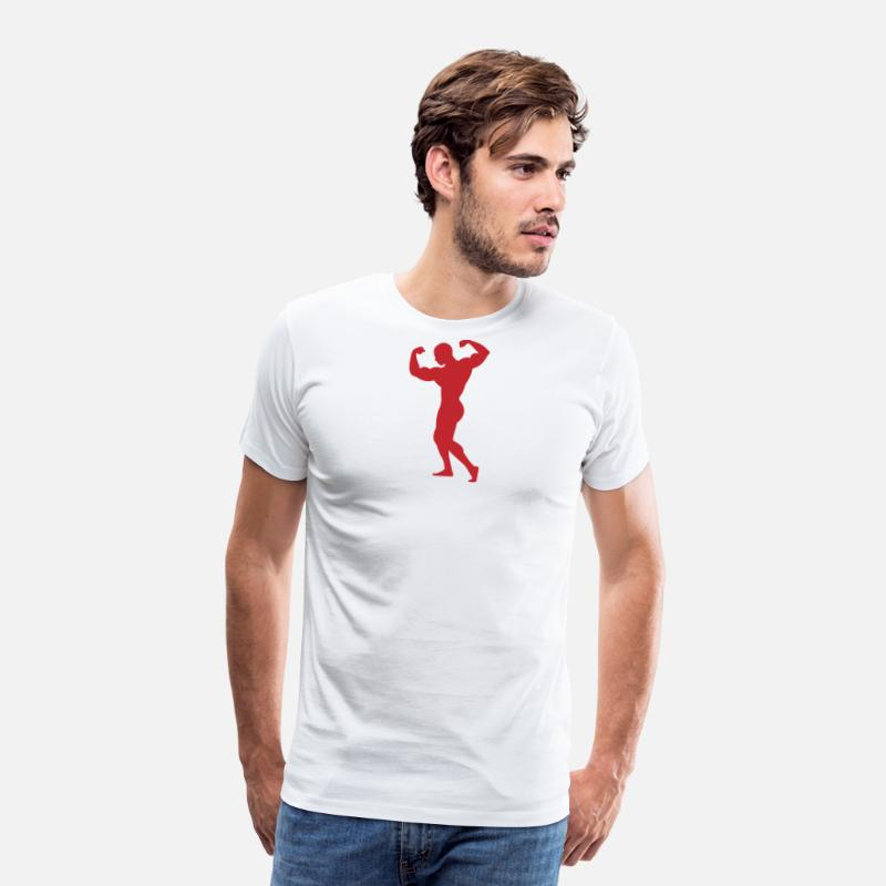 Aphrodite T-Shirts - Adonis - A Strong Man - Men's Premium T-Shirt white