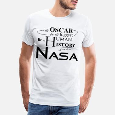 Nasa Flat Earth Nasa - Premium T-shirt mænd
