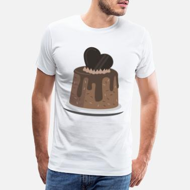 Pudding Pudding chocolate gift sweets Sweet heart - Men's Premium T-Shirt