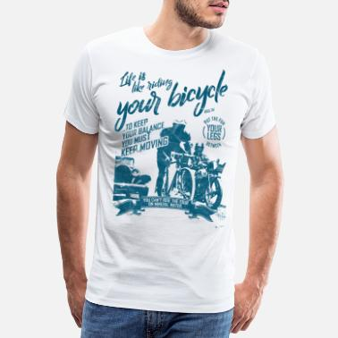 Cycling Bike Vintage Biker Tour Cycling Riding Motor Life - Männer Premium T-Shirt