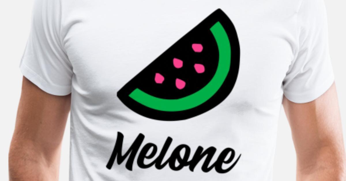 Ich liebe bunte Melonen Männer Premium T-Shirt | Spreadshirt