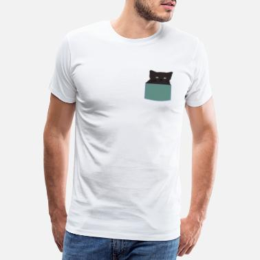 Brothers Daddy Cat Face Cat Bag Black Cat Animal Cute - Men's Premium T-Shirt