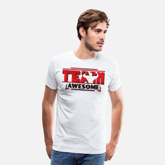 Team T-Shirts - TEAM AWESOME - Men's Premium T-Shirt white