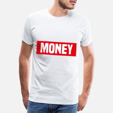 Money Dollarzeichen Money red white - Männer Premium T-Shirt