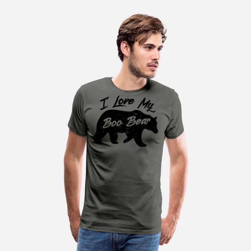 Boo Bear Söt Teddy Bear Polar Bear Halloween Par Light Premium T-shirt herr   04cf31734ab31