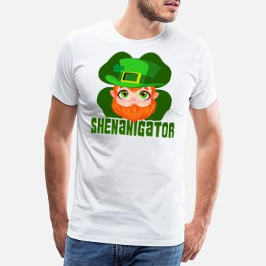 Gaelic St Patricks Day Party Shirt Shamrock Beer Gift - Men's Premium T-Shirt