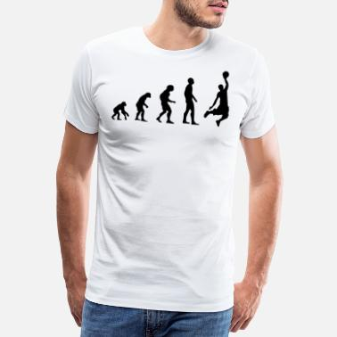 Basketball Evolution Basketballer Basketball Evolution Geschenk - Männer Premium T-Shirt