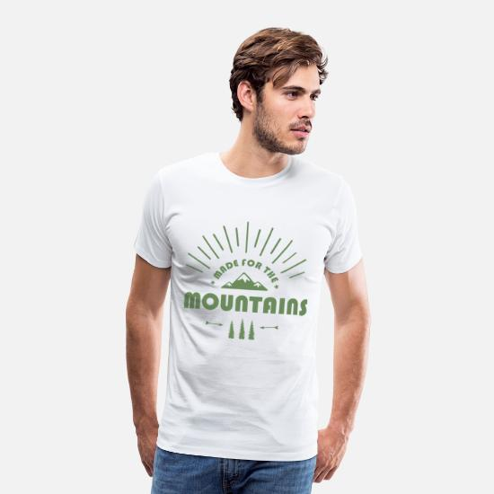 Made For Mountains T-Shirts - Klettern - Made For The Mountains - Männer Premium T-Shirt Weiß