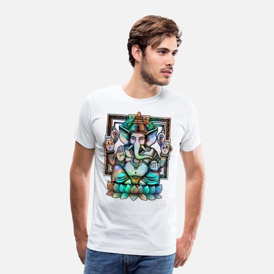 Collection T-shirts - Cosmic Ganesh - T-shirt premium Homme blanc