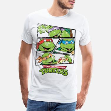 Officialbrands TMNT Raphael Donatello Leonardo Michelangelo - Men's Premium T-Shirt