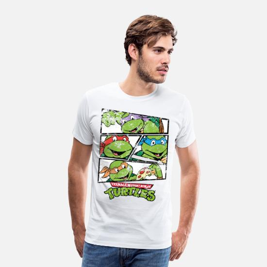 First Day Of School T-Shirts - TMNT Raphael Donatello Leonardo Michelangelo - Men's Premium T-Shirt white