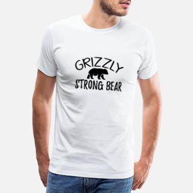 Être Assis Grizzly - Ours fort - T-shirt premium Homme