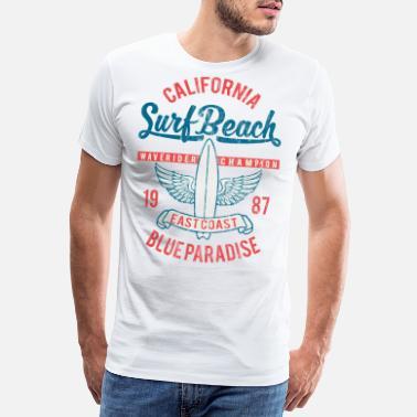 a4742faa50b20 PLAGE SURF - Vintage Surf et Surf Surfer shirt - T-shirt premium Homme
