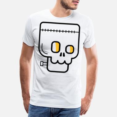 Uhyre Halloween zombie monster uhyggeligt - Premium T-shirt mænd