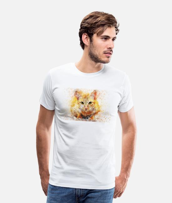 Pure-bred T-Shirts - Red house cat - Men's Premium T-Shirt white