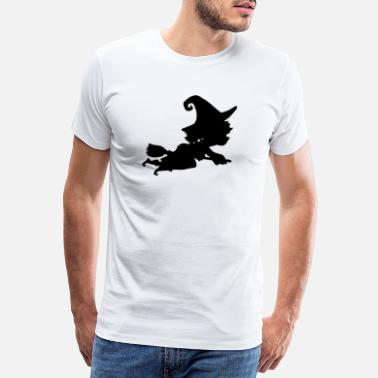 Mystical Witch flies away quickly - Men's Premium T-Shirt