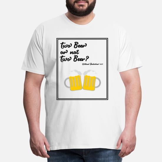 Øl digt gaveidé Funny idé ordsprog Herre premium T shirt hvid