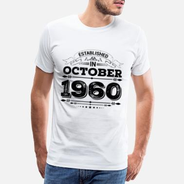 1960 Established in October 1960 - Männer Premium T-Shirt