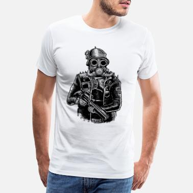 Soldier Of Fortune Steampunk Soldier - Mannen premium T-shirt