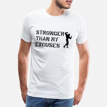 Beast Mode Sterker dan mijn excuses motivatiegeschenk - Mannen premium T-shirt