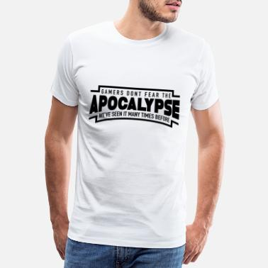 Arcade Game Zocker Apocalypse play black Funny - Men's Premium T-Shirt