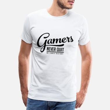 Fp Gamblers do not give up on reboot black funny - Men's Premium T-Shirt