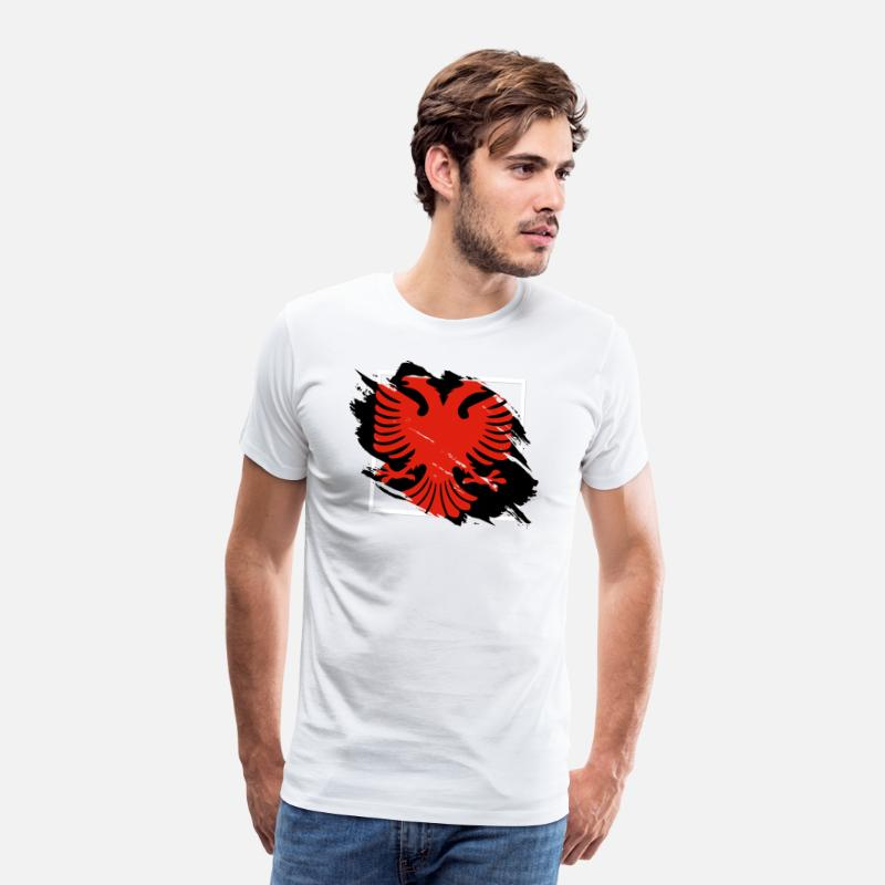 Gift Idea T-Shirts - albanian eagle albania shirt - Men's Premium T-Shirt white