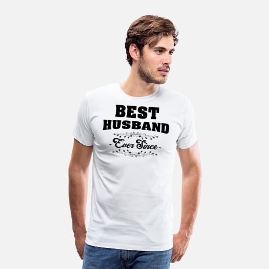 Husband T-Shirts - best husband - Men's Premium T-Shirt white
