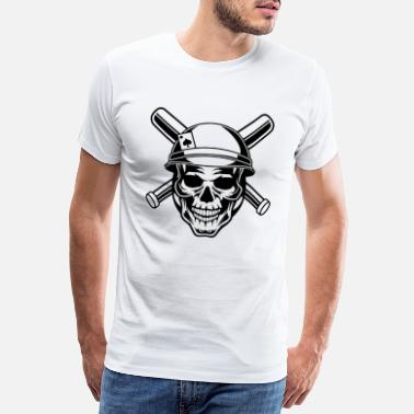 Handle Baseball Champion Skull - Mannen premium T-shirt