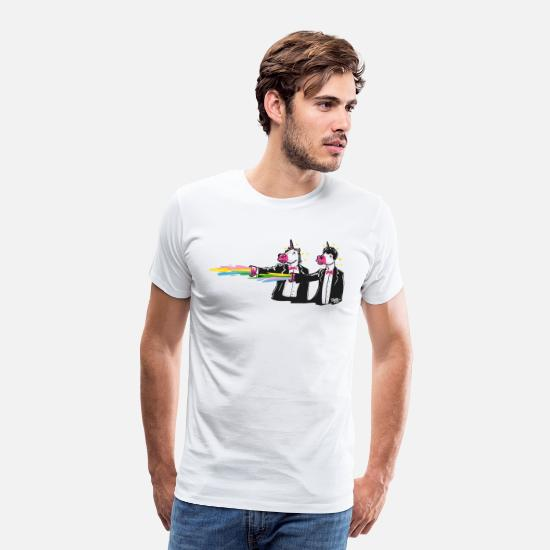 Cool T-Shirts - unicorns & rainbows - Men's Premium T-Shirt white