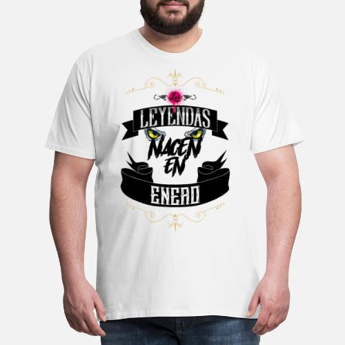 Las Leyendas Nacen Camiseta premium hombre  1f2f659c95ab3