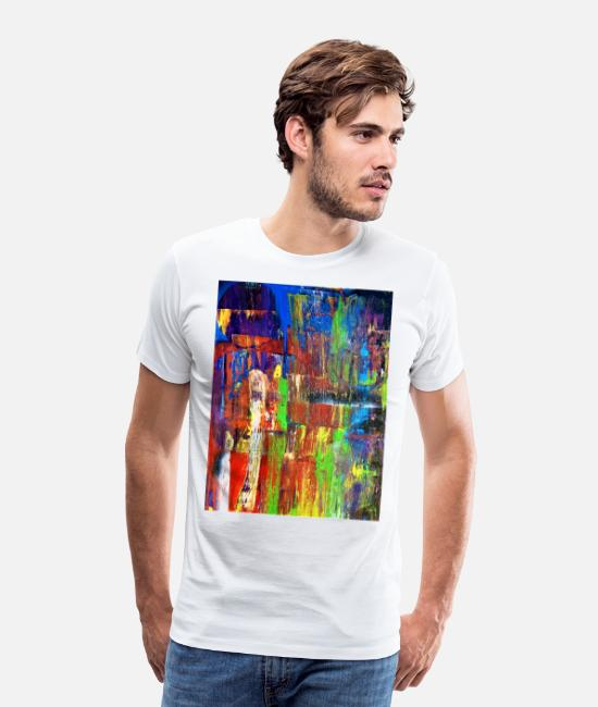 Impressionnant T-shirts - Grande conception abstraite, incroyable! - T-shirt premium Homme blanc
