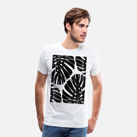 Décoration T-shirts - AD Monstera - T-shirt premium Homme blanc