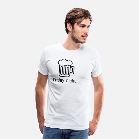 Guys Night Out T-Shirts - Friday evening - Men's Premium T-Shirt white