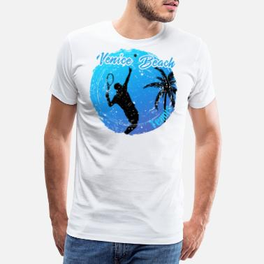 Longboarder Venice Beach tennis - Men's Premium T-Shirt