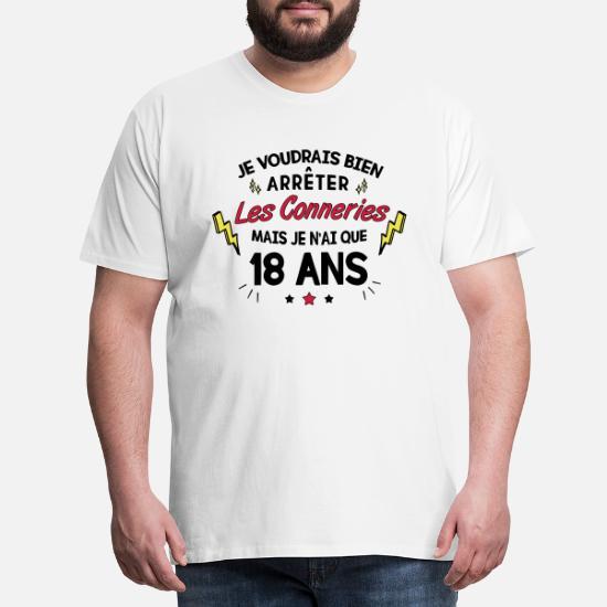 Pièce unique 1999 Hommes T-shirt Fun Shirt Cadeau Idée 18 anniversaire majeure