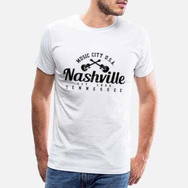 Country Nashville Tennessee - Musique country - T-shirt premium Homme