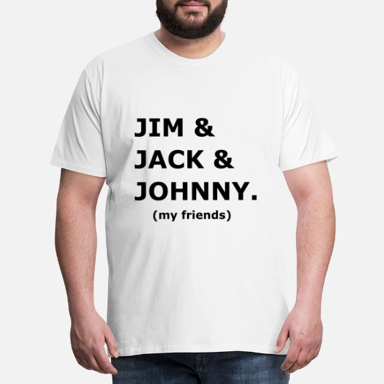 JIM JACK JOHNNY my friends Männer Premium T Shirt Weiß